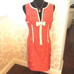 Marc Jacobs Coral Couture Dress